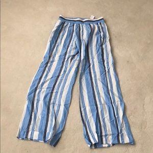 NWT: DREW Blue Stripe Pants